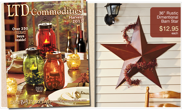 Shop LTD for incredible values in home and garden, unique gifts, holiday decor and more! Shop LTD Commodities Catalogs. Get the latest LTD promo codes.